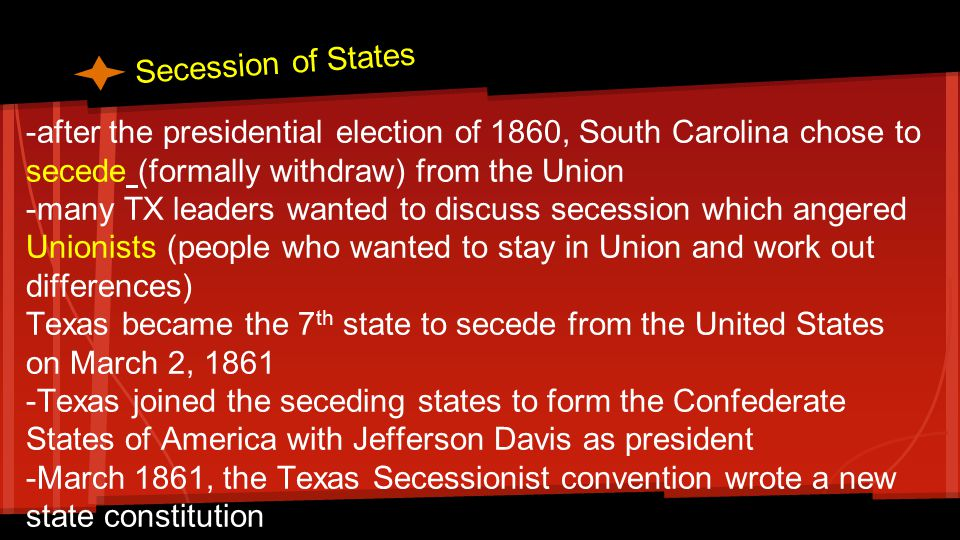 what caused secession essay Declaration of the immediate causes which induce and justify the secession of south carolina from the federal union the people of the state of south carolina.