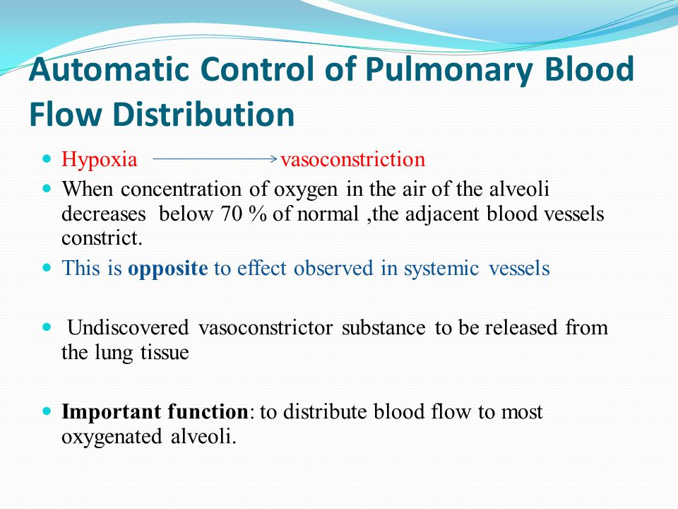 Automatic Control of Pulmonary Blood Flow Distribution
