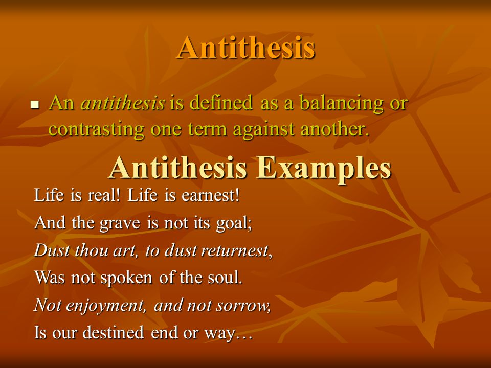 antithesis antithesis Antithesis definition, opposition contrast: the antithesis of right and wrong see more.