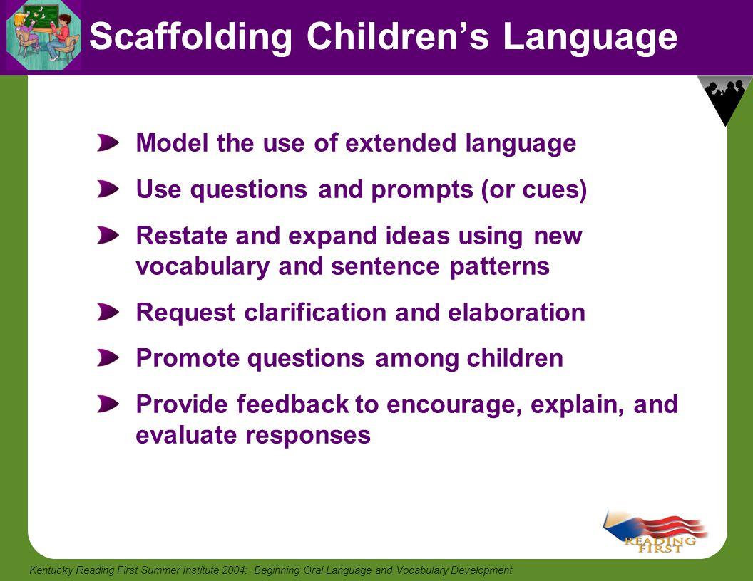 Scaffolding Children's Language