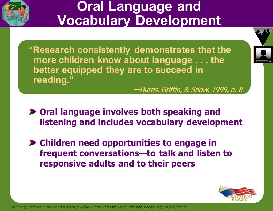 Oral Language and Vocabulary Development