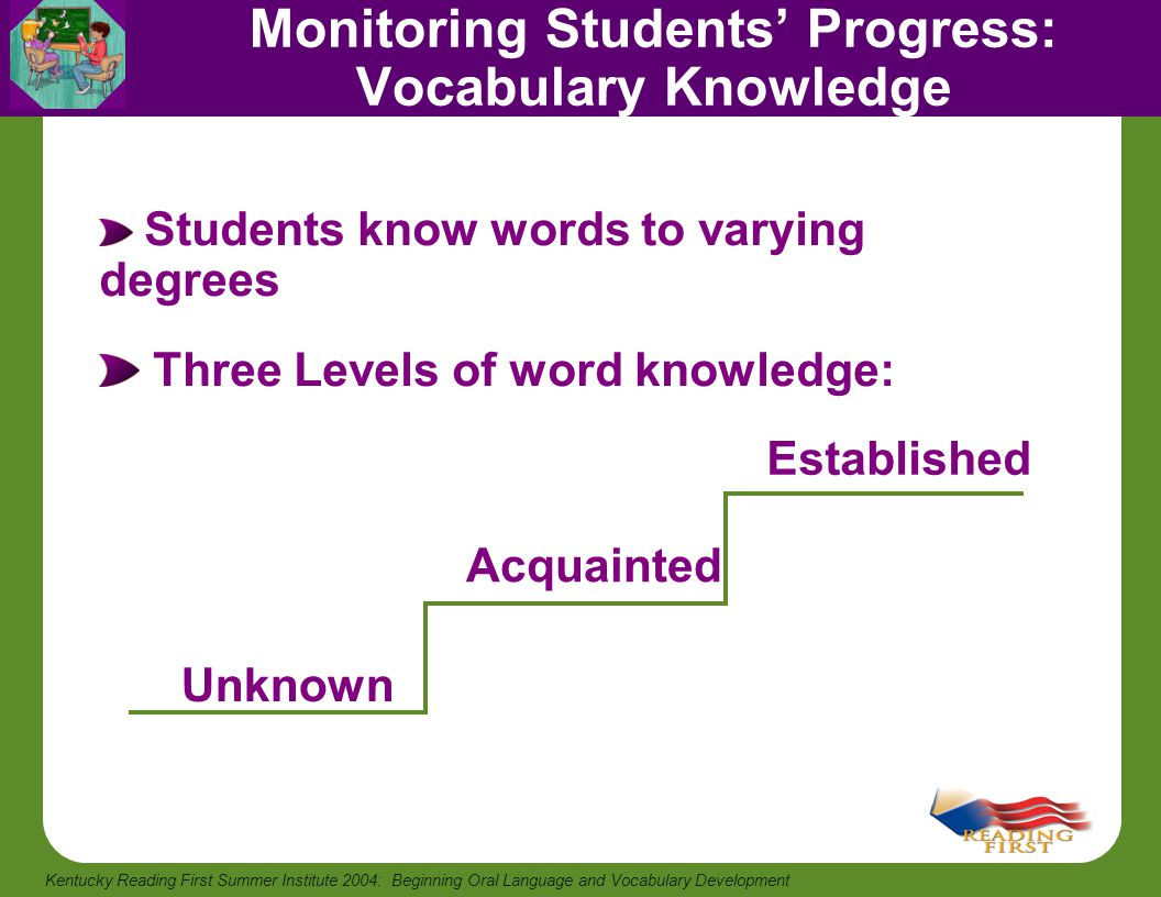 Monitoring Students' Progress: Vocabulary Knowledge