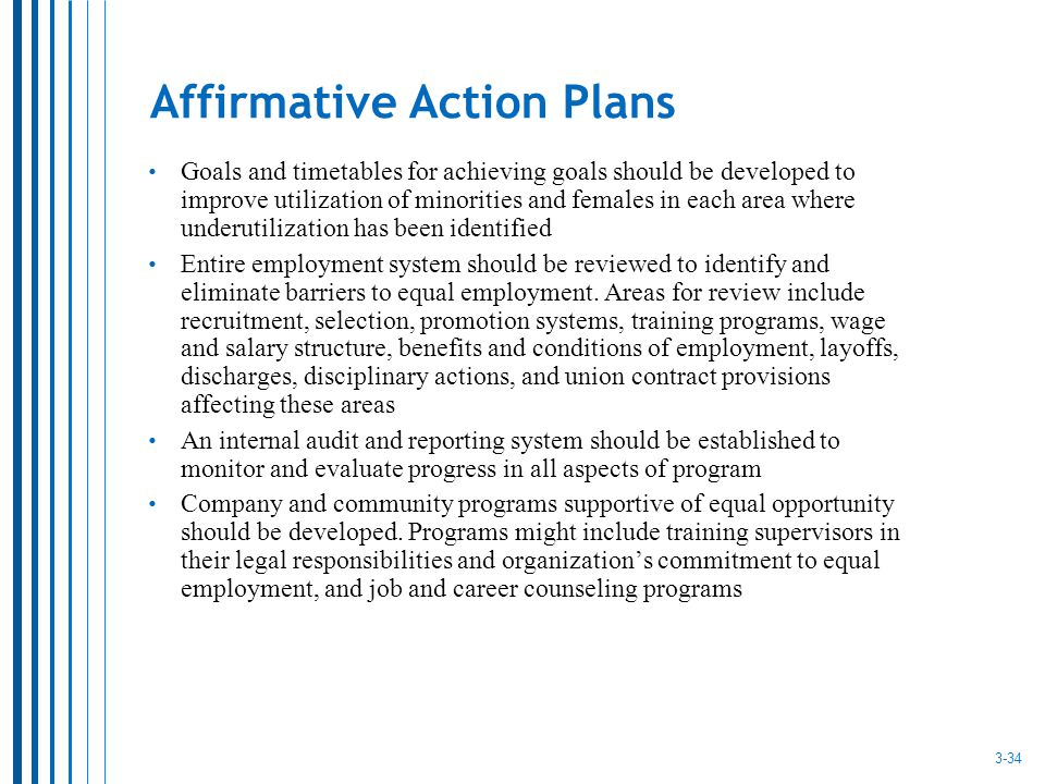 What employers are subject to affirmative action plans and why Essay ...