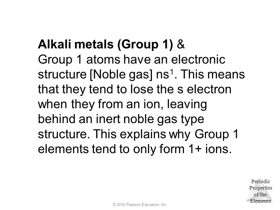 Alkali metals (Group 1) &