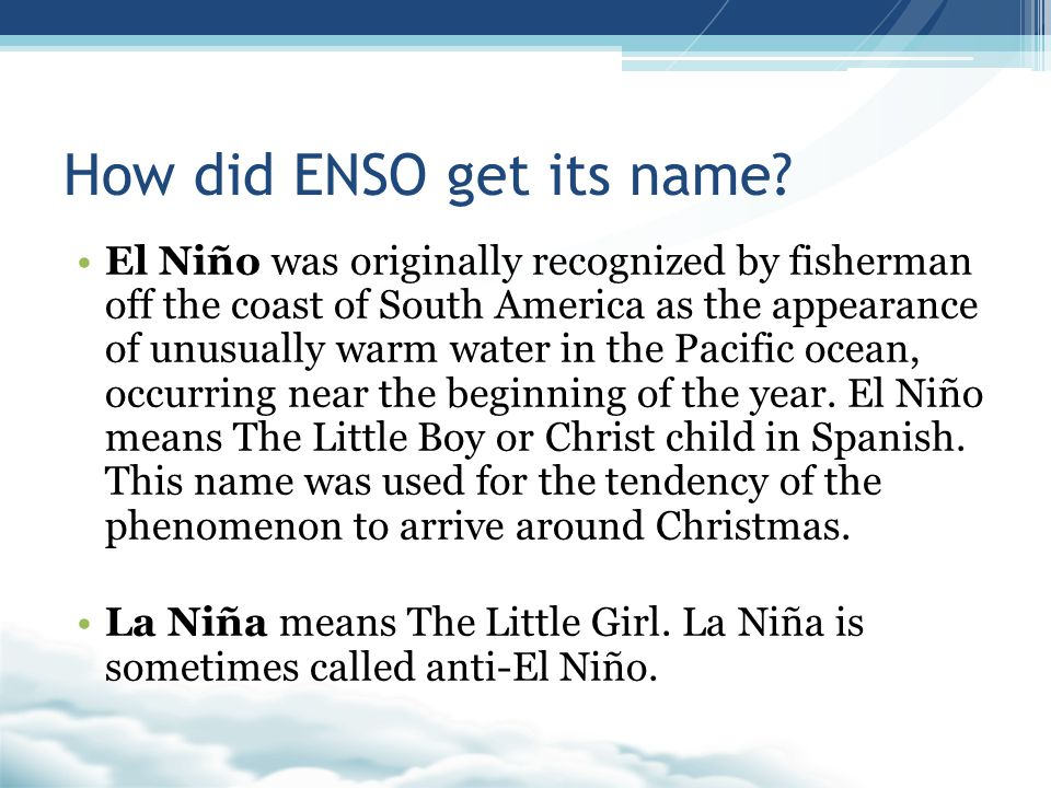 How did ENSO get its name