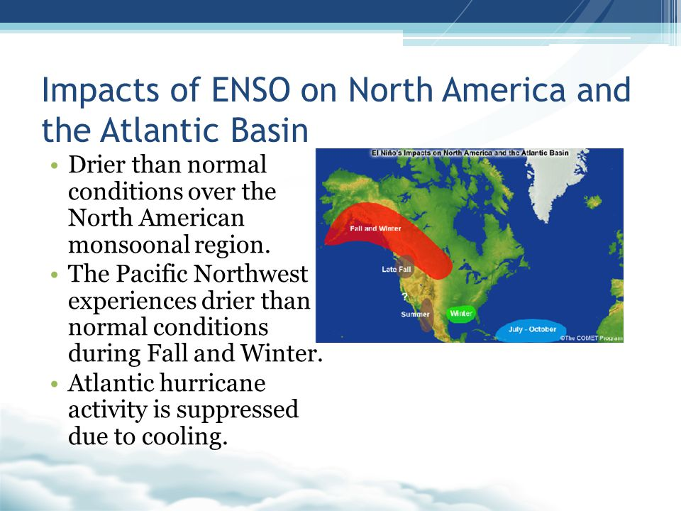 Impacts of ENSO on North America and the Atlantic Basin