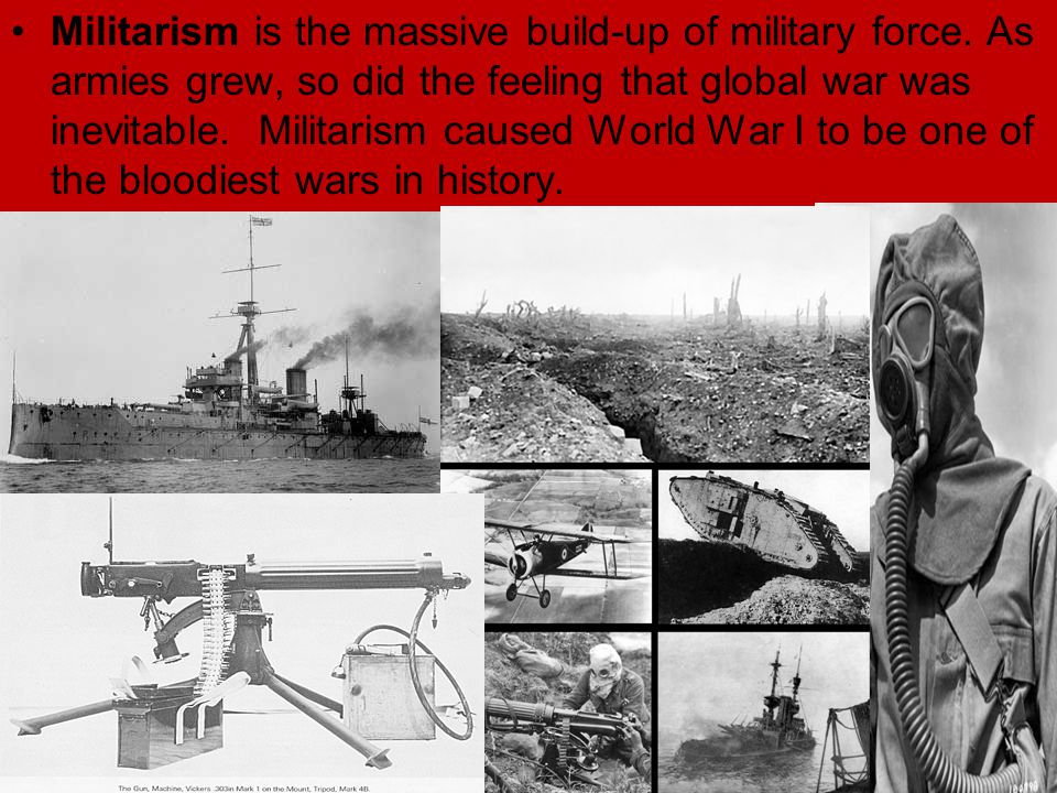 World war 1 militarism essay