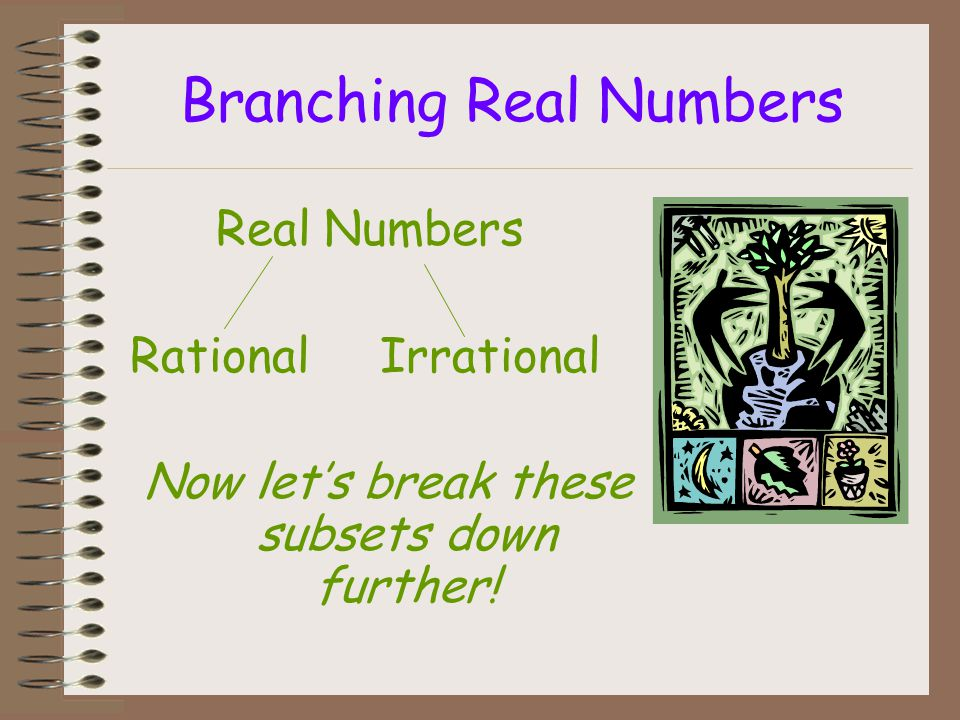 Branching Real Numbers