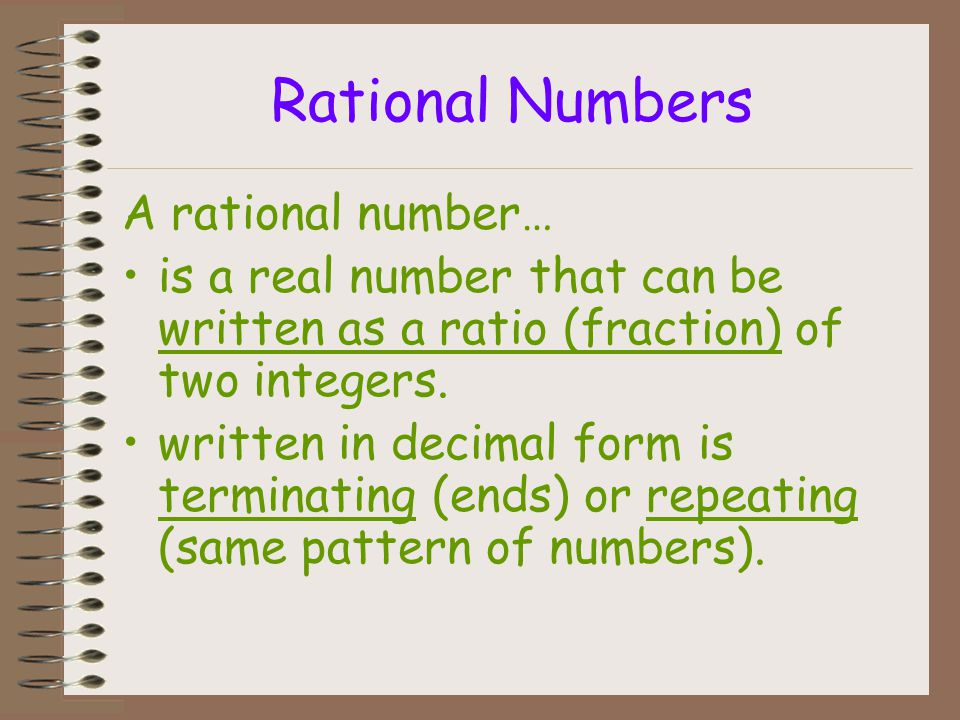 Rational Numbers A rational number…