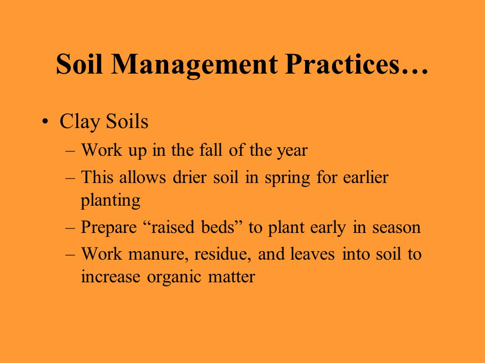 Planning and preparing a vegetable garden ppt video for Soil management