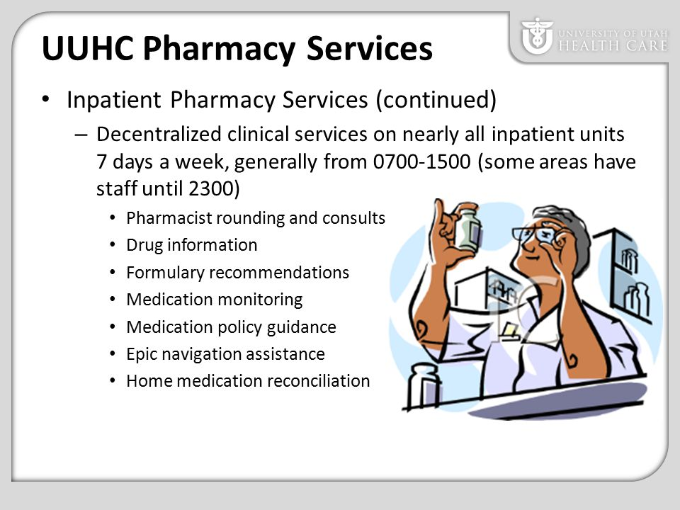 Pharmacy Department Overview & Prescription Regulations - ppt video ...