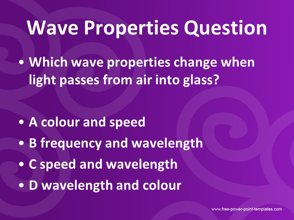 Wave Properties Question