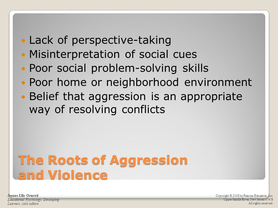 The Roots of Aggression and Violence