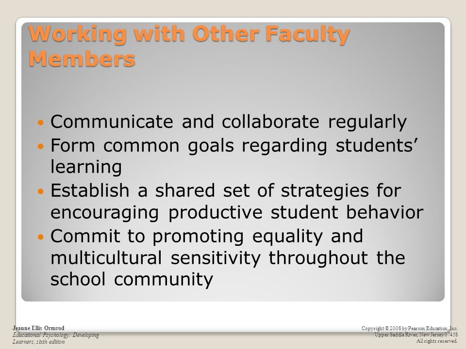 Working with Other Faculty Members