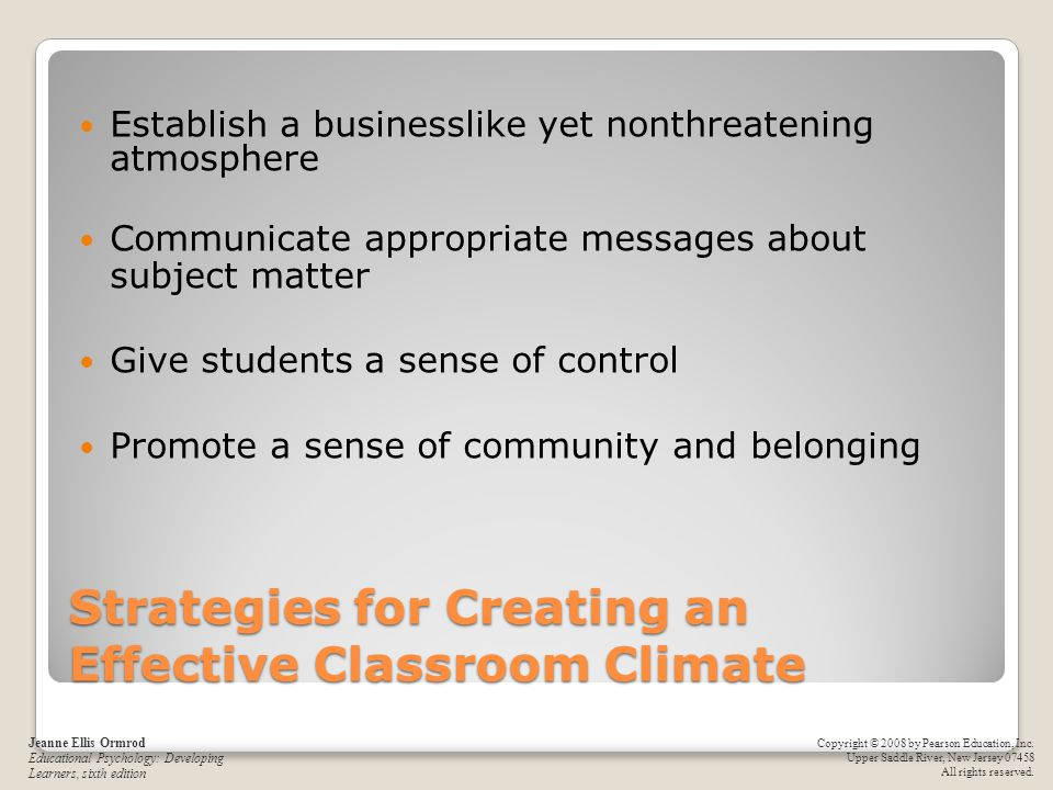 Strategies for Creating an Effective Classroom Climate