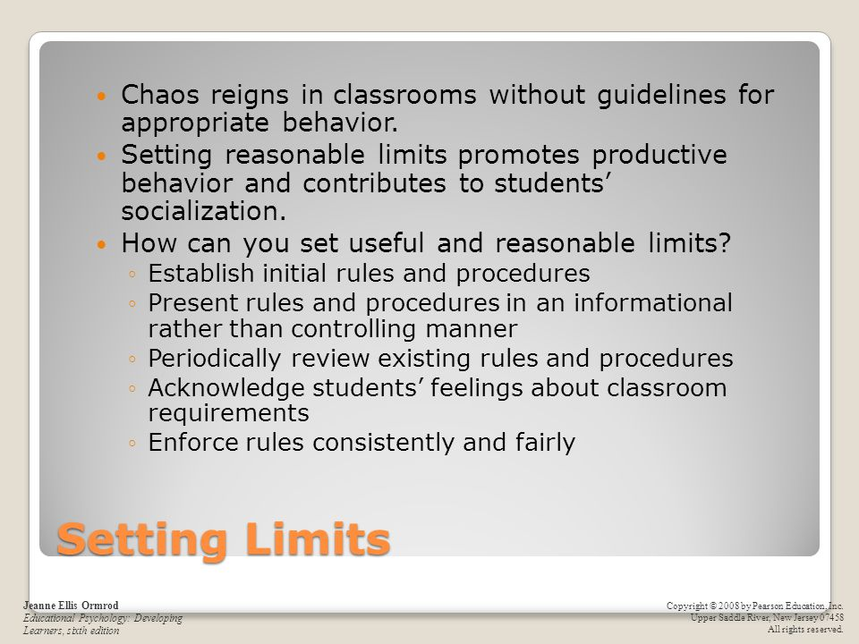 Chaos reigns in classrooms without guidelines for appropriate behavior.