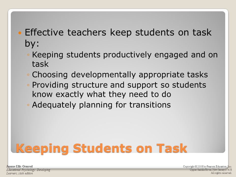 Keeping Students on Task