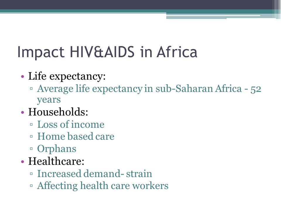 Impact HIV&AIDS in Africa