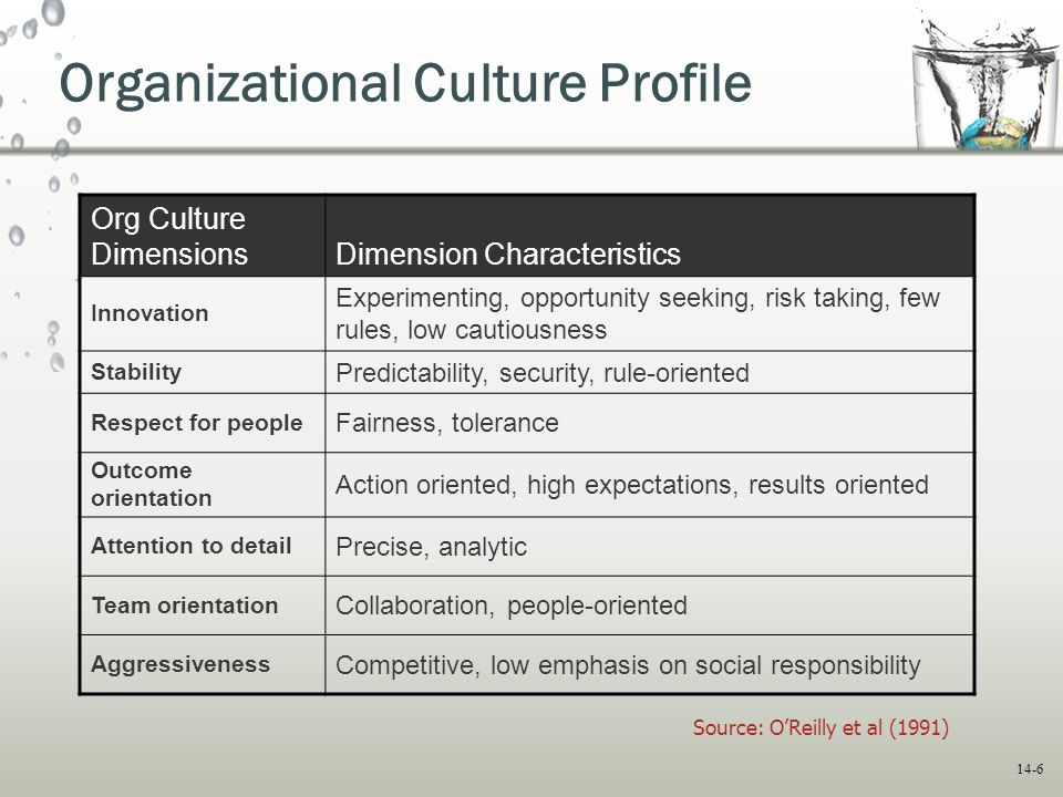 people orientation as organizational culture The best predictor of what people will do is what they are incentivized to do is that organizational immune systems also can attack agents of needed change organizational culture [is shaped by.