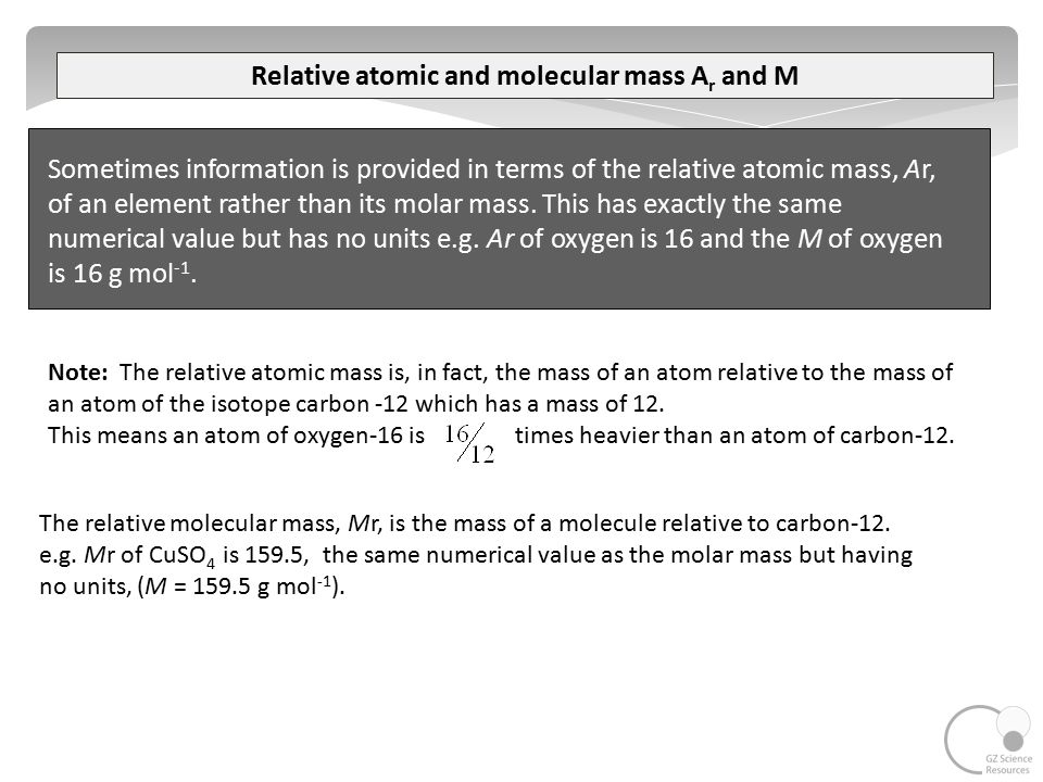 how to find relative molecular mass