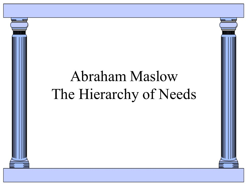 Abraham Maslow The Hierarchy of Needs