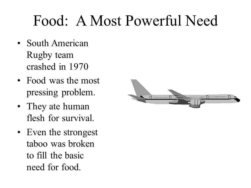 Food: A Most Powerful Need