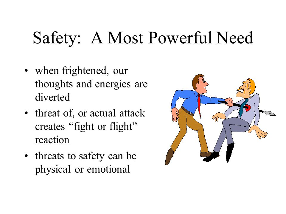 Safety: A Most Powerful Need