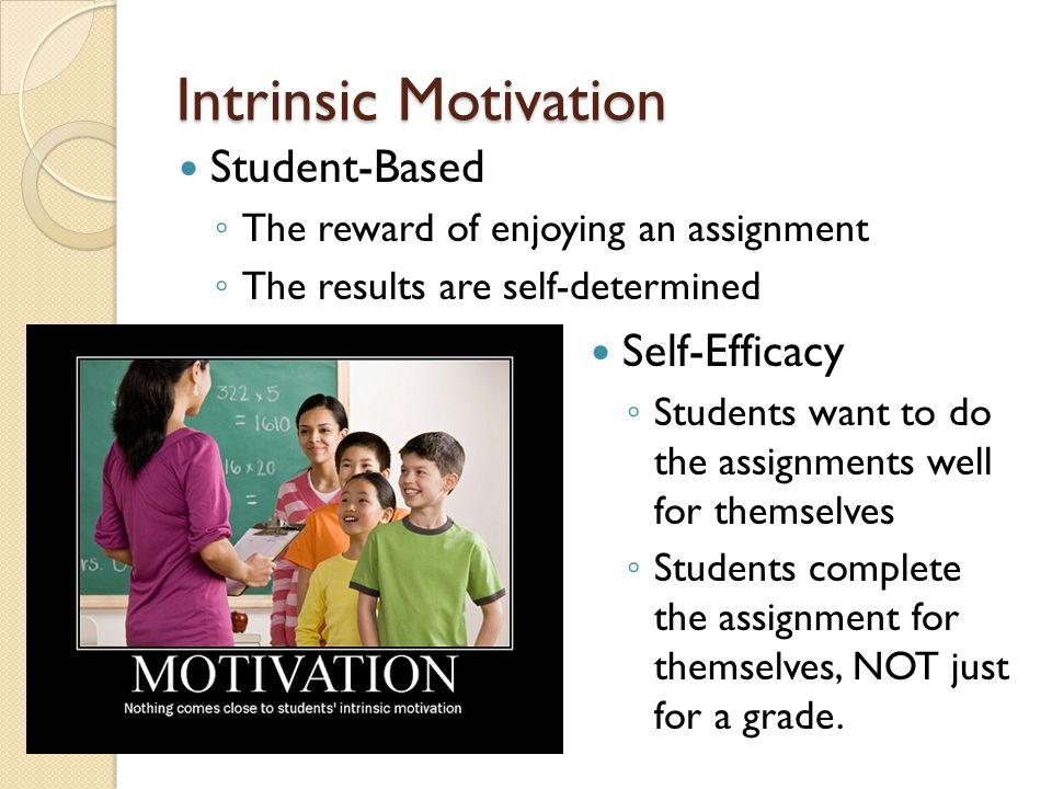 Intrinsic Motivation Student-Based Self-Efficacy