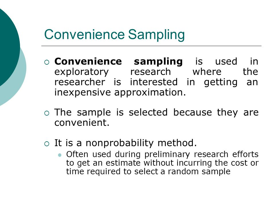 sampling approaches put to use in research