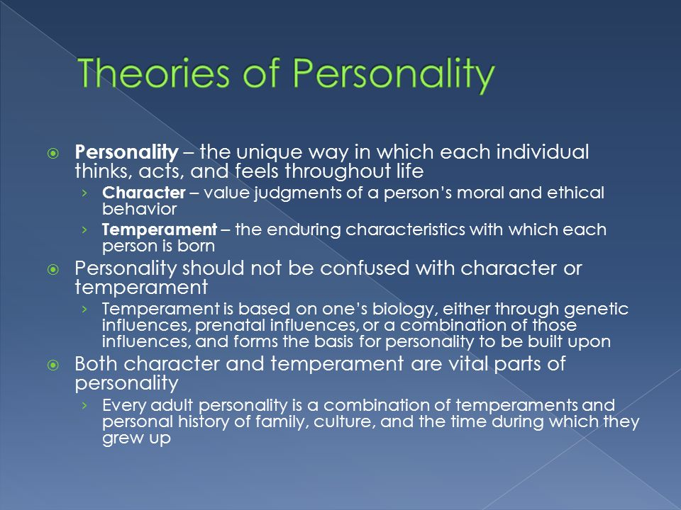 history of personality theories Having a type a personality has become shorthand for a certain sort of competitive or domineering person, but what does it really mean type a and type b personality theory was created by.