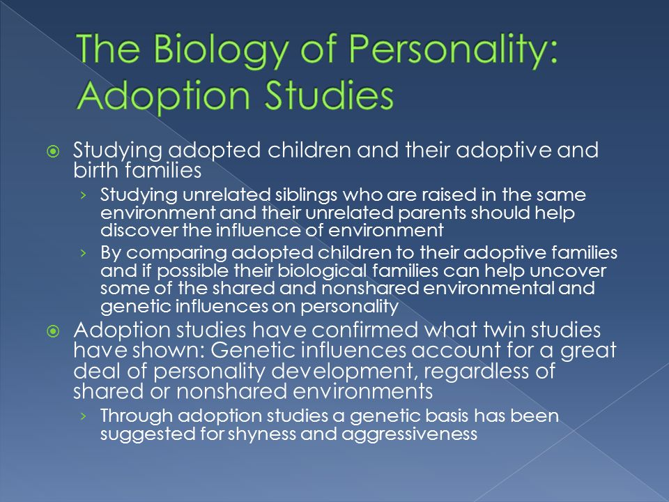 biological factors that influence the formation of personality