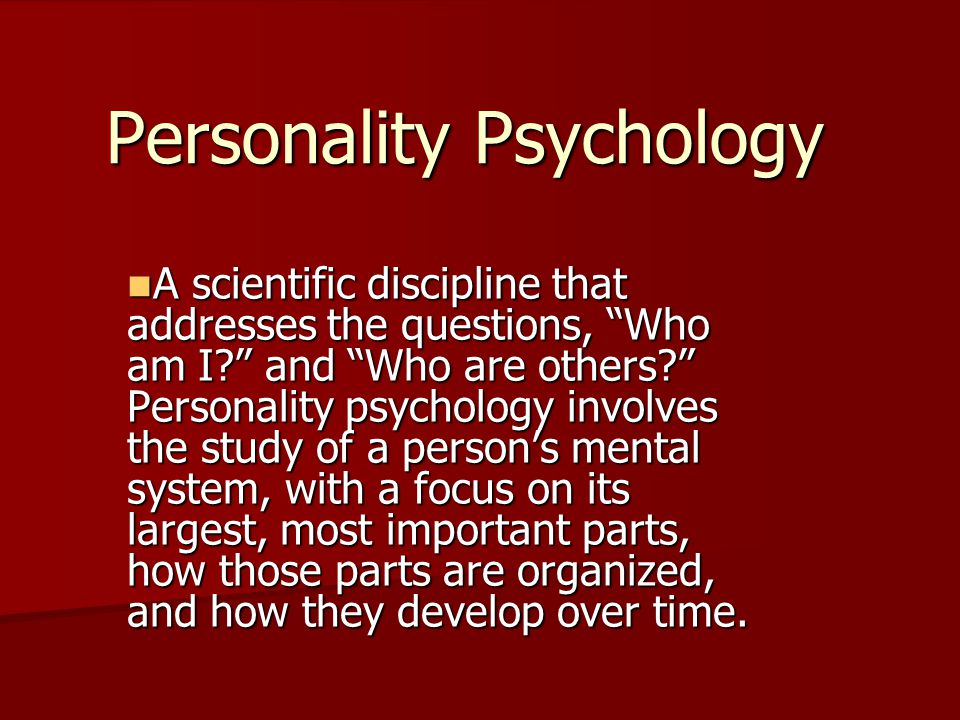 personality research copy