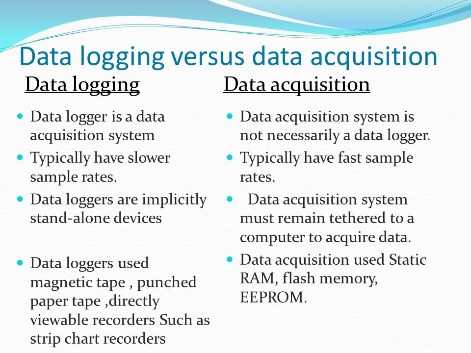 Dased Pc Data Acquisition System : Study of data acquisition system and loggers ppt