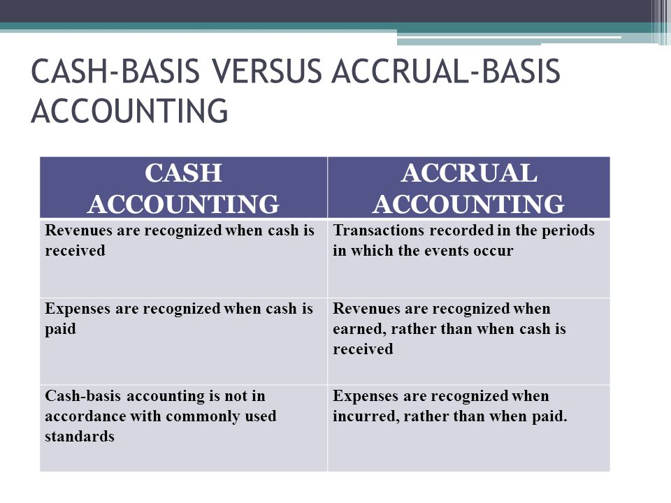 accrual basis of accounting When a firm prepares its financial statements it must indicate whether cash or  accrual accounting methods are in use smaller businesses.