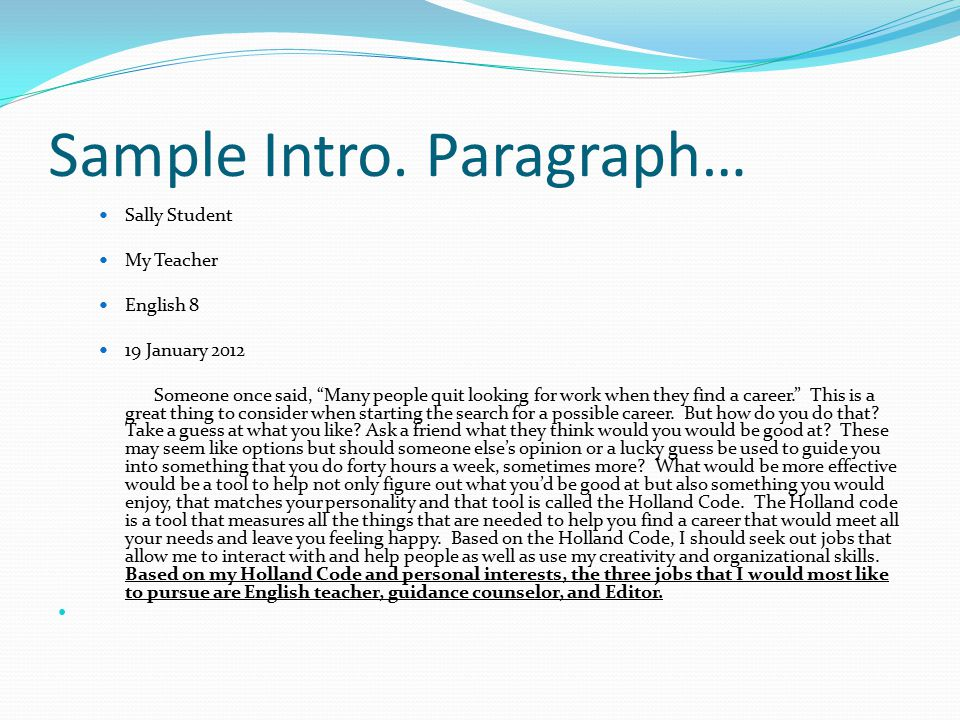 how to start an intro paragraph for an essay The introduction to an essay, admittance or any other paper may only be one paragraph  dictionary definitions – avoid starting things off with sentences like.