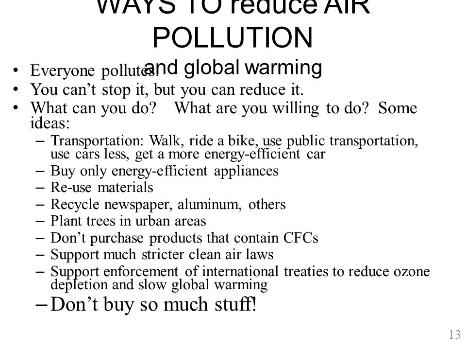 AIR POLLUTION AND HOW TO REDUCE IT
