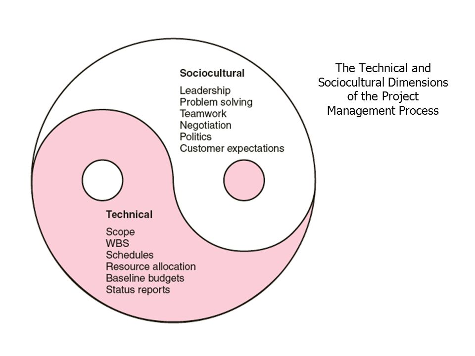 technical and sociocultural aspects of project management Tco 8) what does the author mean by technical and sociocultural aspects of project management - answered by a verified business tutor.