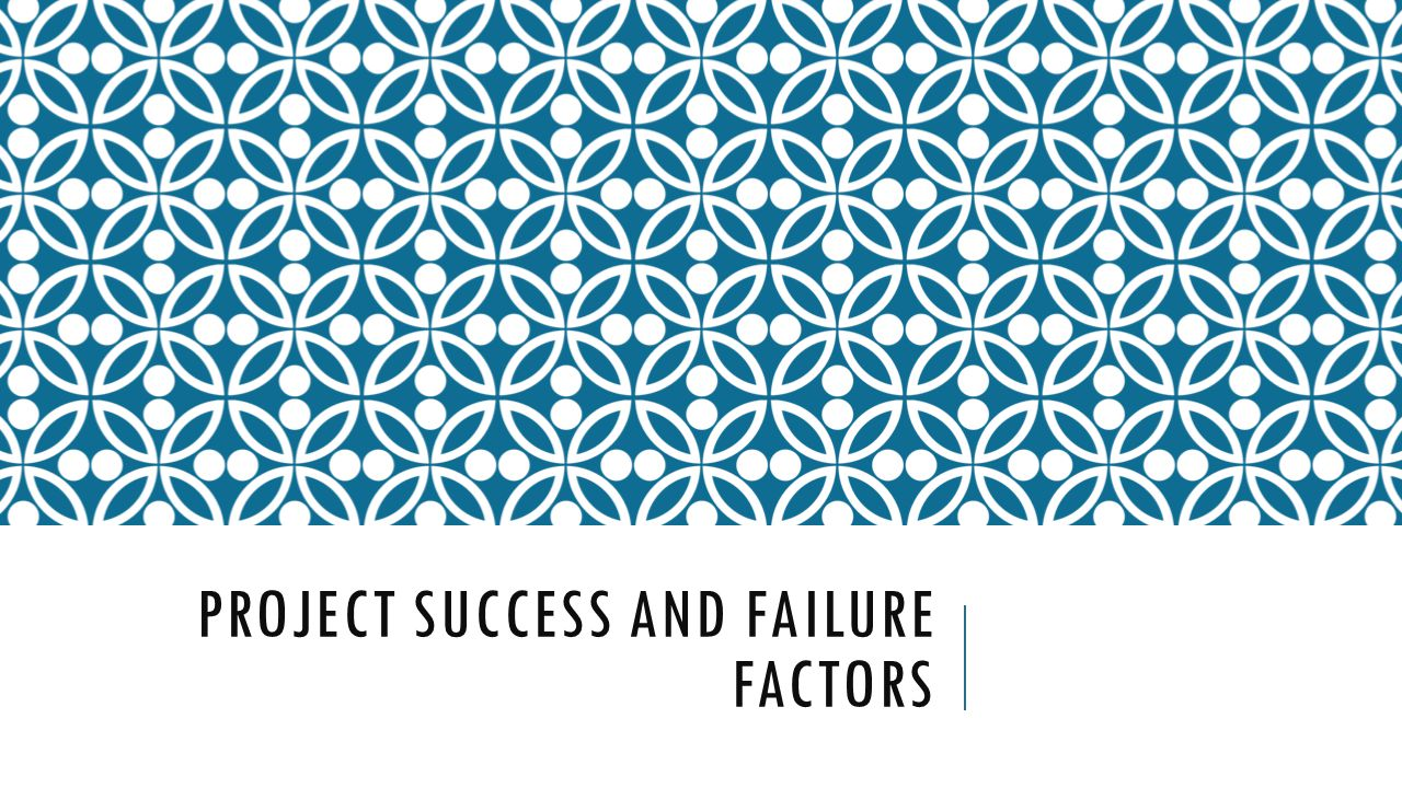project success failure essay On project success defined by success factors and success criteria by m shaw success consists of going from failure to failure without loss of enthusiasm winston churchill introduction 1 since the 1960s there have been an increasing number of project management scholars that have expressed concerns regarding the ways to manage the success or.