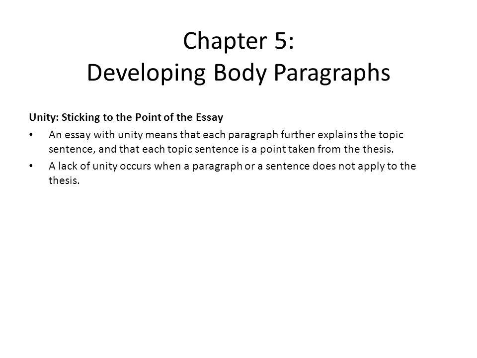 developing body essay