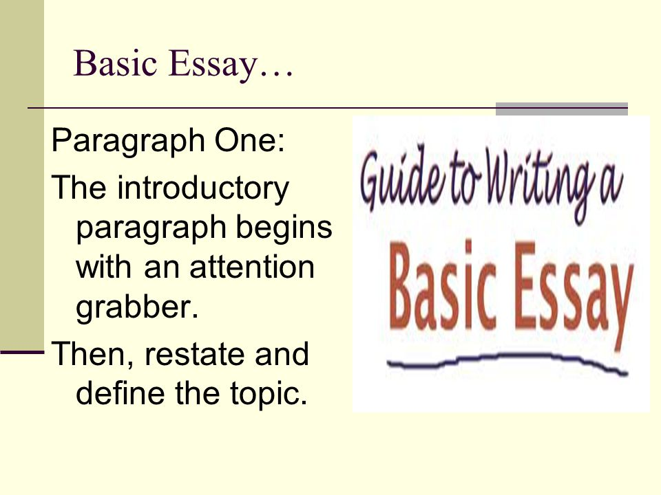 basic essay write This article is written like a personal reflection or opinion essay that states a wikipedia editor's basic writing could be taught how to effectively write.