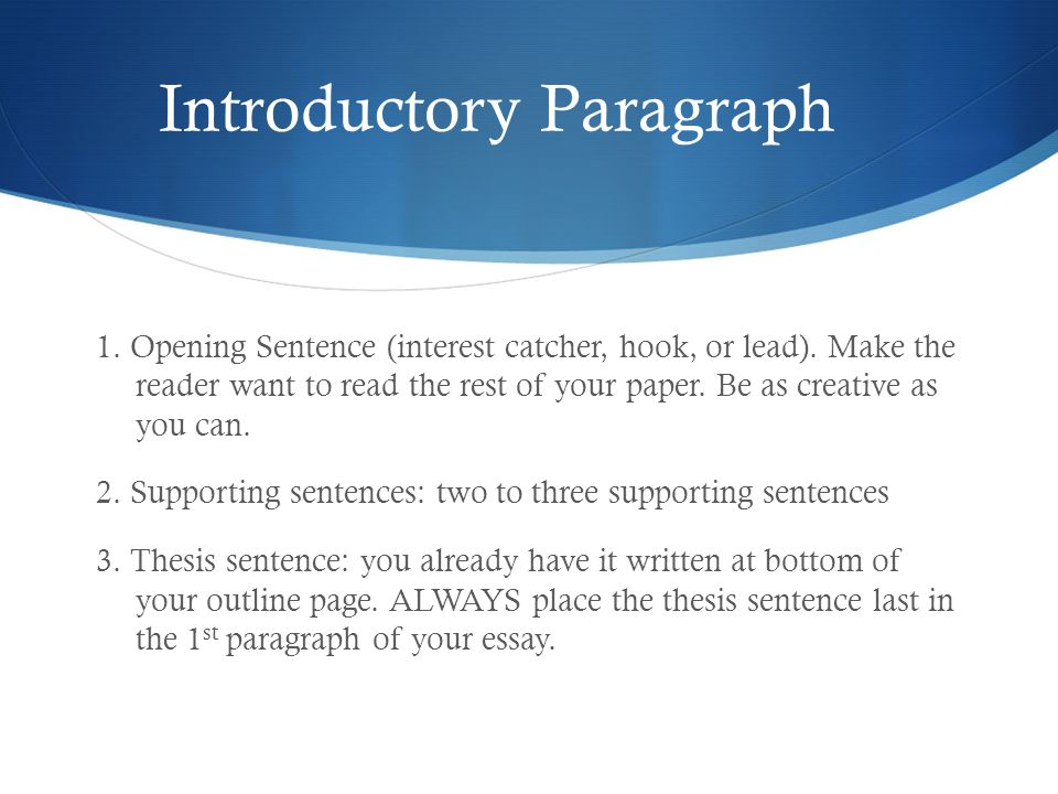 how to write an interesting introductory paragraph