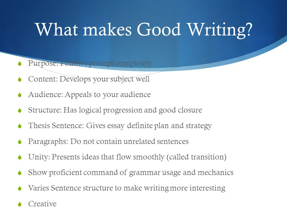 expository informative essay ppt video online  what makes good writing