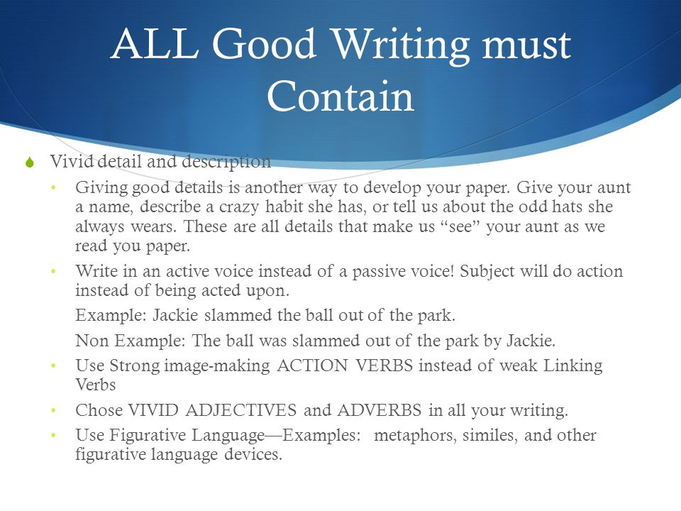 expository informative essay ppt video online  all good writing must contain