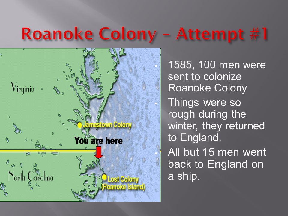 Roanoke Colony – Attempt #1