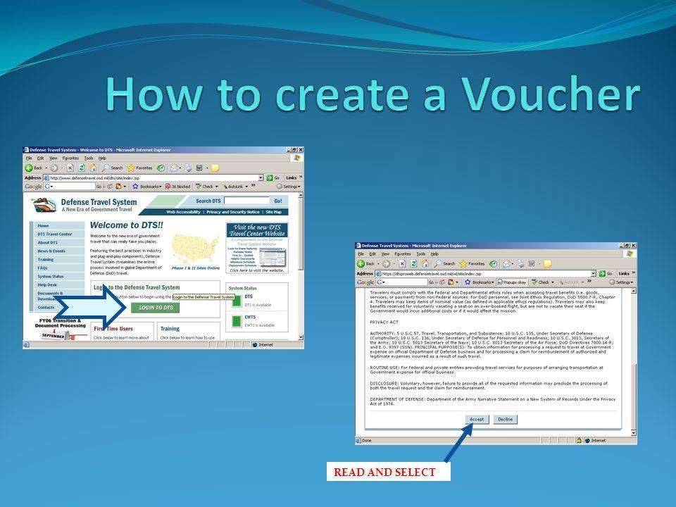 How to make a voucher