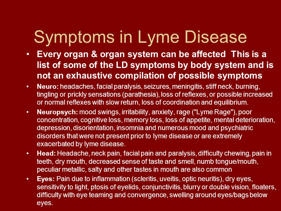 Lyme Disease And Tick Born Co Infections Ppt Download