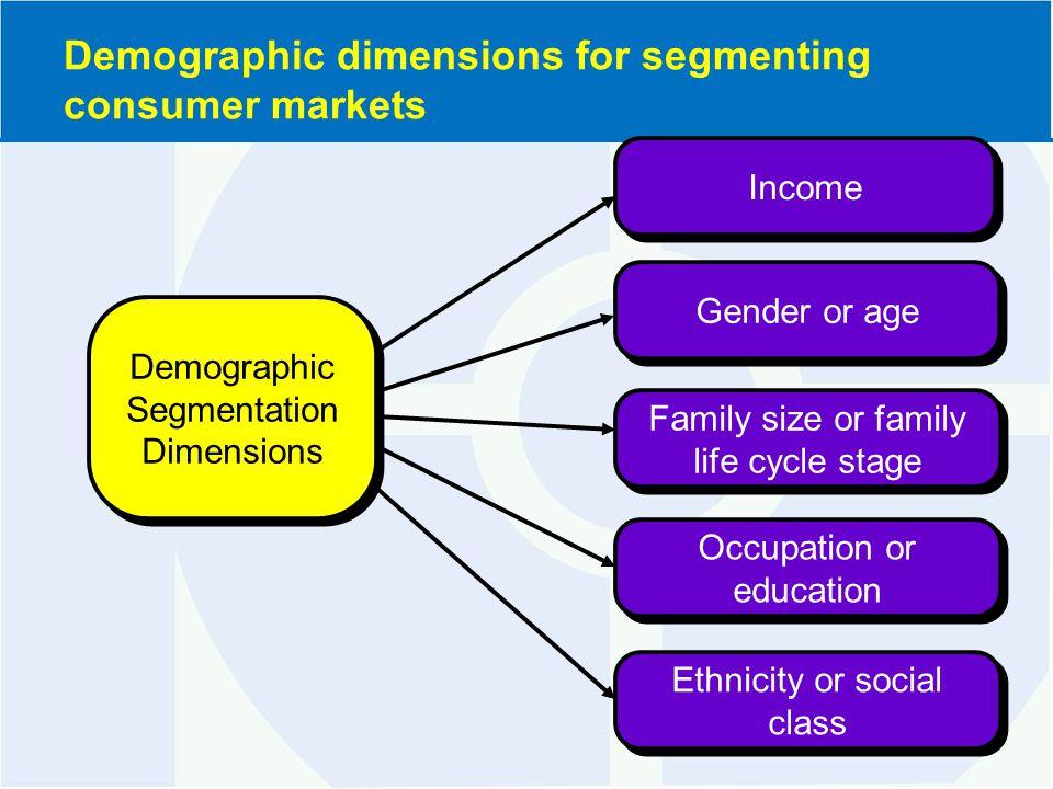demographic market segmentations An introduction to market segmentation in consumer and industrial markets.