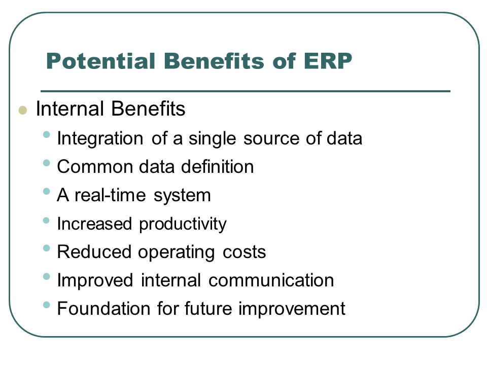 benefits of erp system pdf