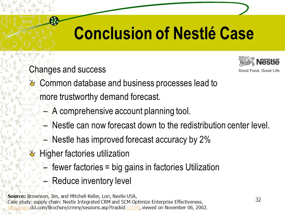 nestle erp case study A case study of erp implementation for opto-electronics industry international journal of the computer, the internet and management vol 13#1 (january – april, 2005.