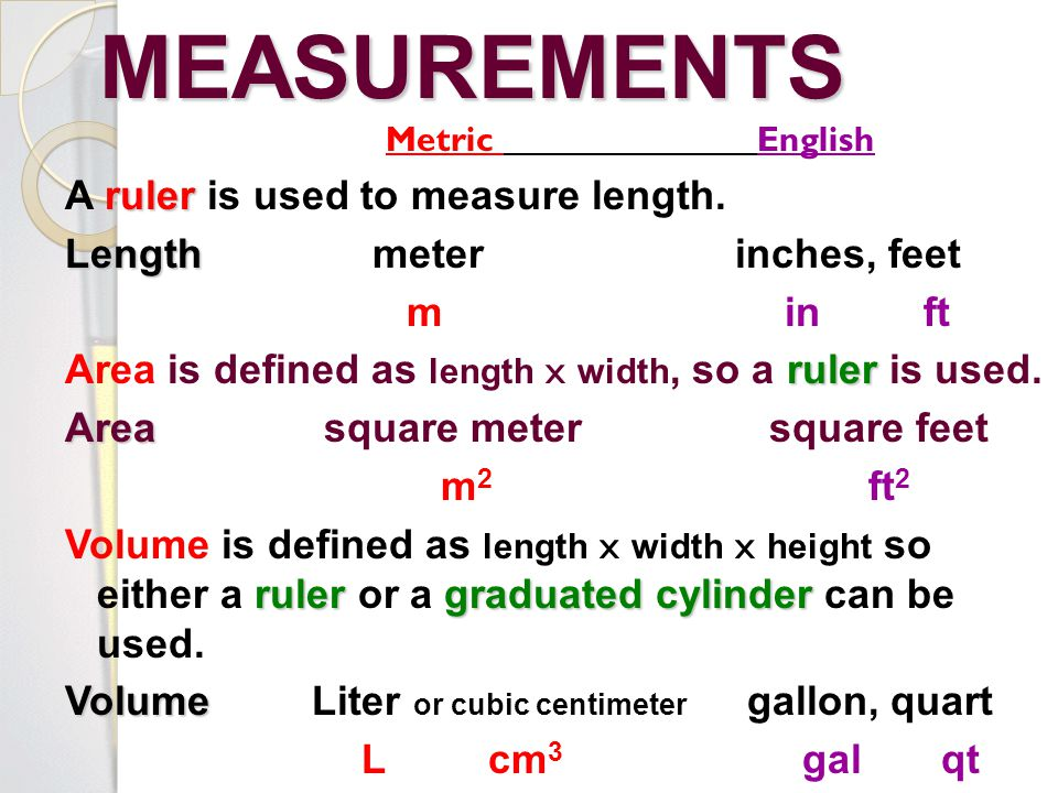 measurement length volume density and time lab Table 2 contains data collected through different means of measurement of length the dimensions and volume of a lab lab report 2: measurements 2/01/2012.